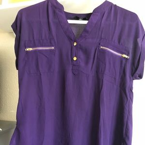 Women's purple blouse